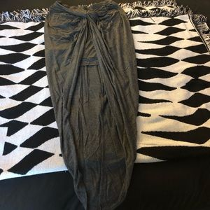Dark grey maxi material
